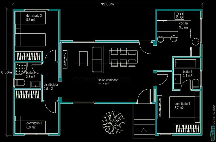 planos de casas modernas unifamiliares