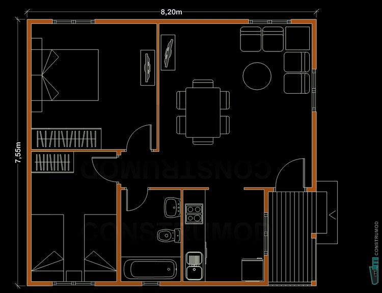 Casas modernas modulares prefabricadas tattoo design bild for Casas prefabricadas economicas