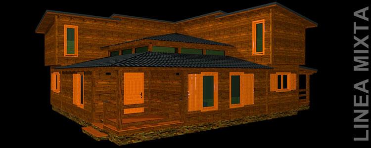 Oferta casa de madera casas modulares casas prefabricadas for Casas de madera modernas